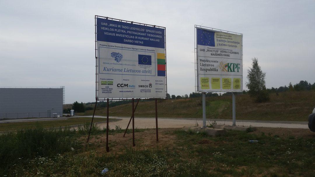 ES stendu su tentu gamyba