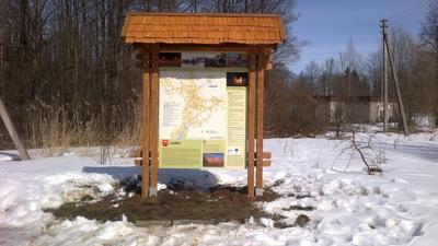medinis turistinis stendas