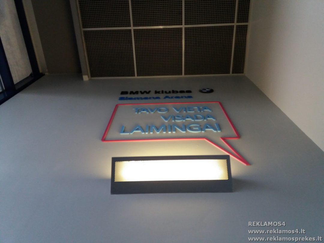 iskile uzrasai ant sienos Reklamos4 gamyba BMW klubas