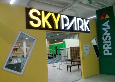 turiniu raidziu gamyba Skypark